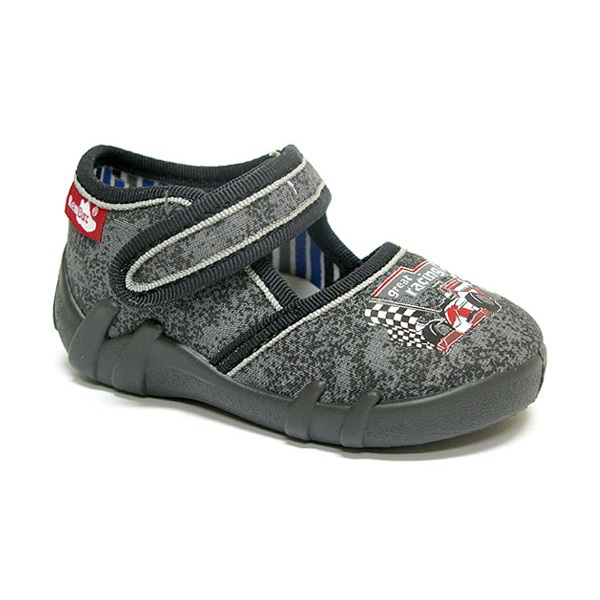 Size UK 3-7 Made in EU Racing Boys Slippers Kids Shoes Toddler Leather Insole